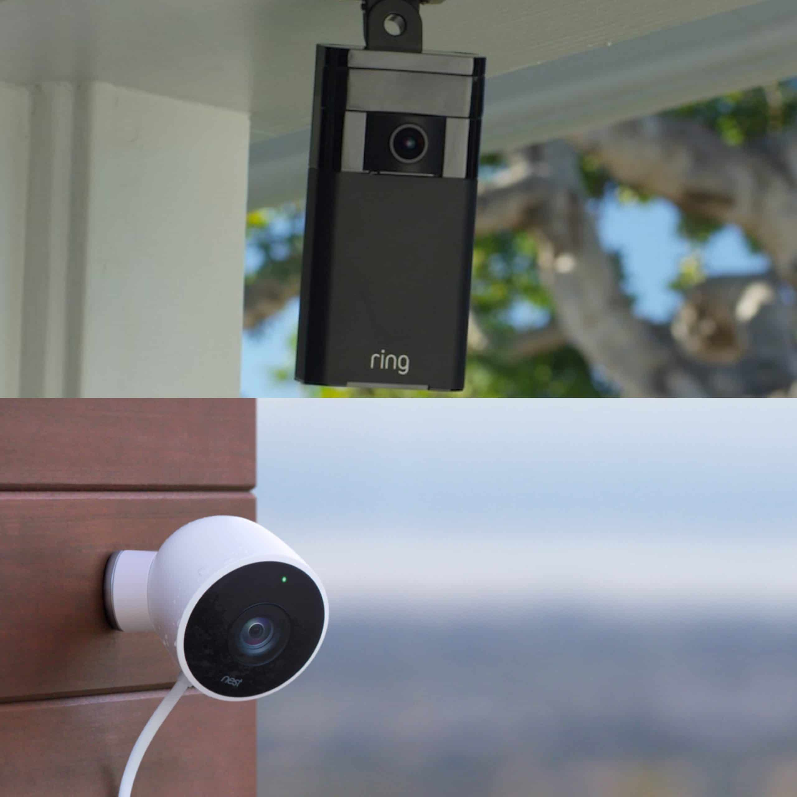 ring stick up cam vs nest cam outdoor pros cons and verdict leads rating. Black Bedroom Furniture Sets. Home Design Ideas
